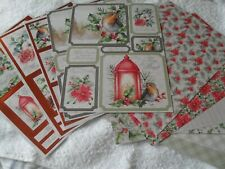 Create & Craft 15 A4 sheets, Christmas card pack 5 die-cut,10 backing card, pa 1