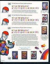 1996 Three Un First Day Souvenir Card Ny-G-V = Wfuna