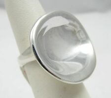 Robert Lee Morris RLM Studio Sterling Silver Modernist Concave Disc Ring NWT 6