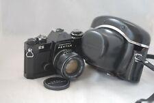 Pentax ES Camera with 55mm f/1.8 Super-Tukuma Lens Leather case in Exc Cond.