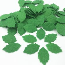 100pcs Green Leaves-shape Felt Card making decoration Sewing crafts 30mm
