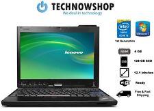 Barato Lenovo Thinkpad X201 Core i5 @ 2.40GHz 4 GB RAM 128 GB SSD cámara web Win 7 Pro