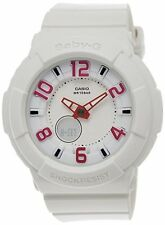 Casio Limited Women's Baby-G BGA133-7B White Resin Quartz Watch with White Dial