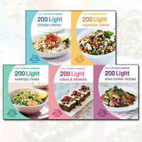 Hamlyn All Colour Cookbook 200 Light Recipes Collection 5 Books Set Slow Cooker