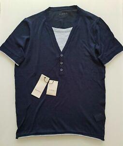 Alpha Studio Herren T-Shirt Serafino MM Dett Jersey Kurzarm Gr: 48