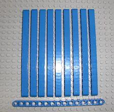 LEGO Technic - 10x Lochbalken Lochstange Liftarm 1x15 blau blue 32278 beam 42042