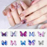 A Pair 3D Butterfly Nail Art Rhinestones Glitters Gems Nail Charms Manicure Art