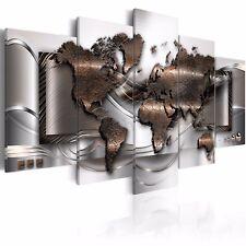 5Pcs/Set World Map Large Modern Art Canvas Print Art Picture Home Wall Decor !