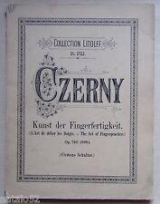 ) méthode l'art de délier les doigts Czerny - collection Litolff n° 1782 - piano