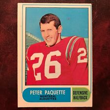 1968 O-Pee-Chee OPC CFL Test Set PETER PAQUETTE #12 ALOUETTES EX-MINT *HIGH GR