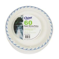 60 Disposable Paper Plates Strong Buffet ( Catering Wedding Party Events Chinet)