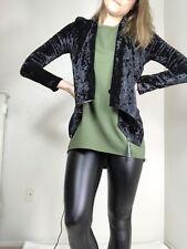 Blank NYC Black Velvet Zipper Moto Jacket Sz XS