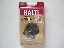 HALTI HEADCOLLAR by TOP PAW SIZE 0 BLACK TRAINING MANUAL STOPS PULLING