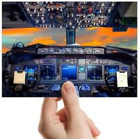 "Flight Deck Aeroplane Cockpit Small Photograph 6""x4"" Art Print Photo Gift #16297"