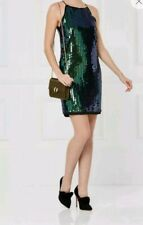 NEXT GREEN BLACK SEQUIN CAMI DRESS NEW RRP £60 NEW Size 12 XMAS PARTY
