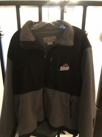 Colorado Timberline Men's L Fleece Labatt Blue Full Zip Jacket Black & Grey