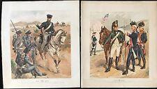 OGDEN H.A. DEUX LITHOGRAPHIES MILITAIRES AMÉRICAINES EN COULEUR XIXÈME  XIX-IX