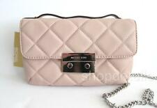 NEW MICHAEL MICHAEL KORS Sloan Quilted Leather Small Messenger 30F4SSLM1N BALLET