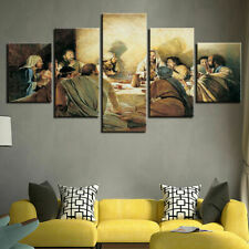 The Last Supper Picture Jesus 5 Piece Canvas Wall Art Poster Print Home Decor