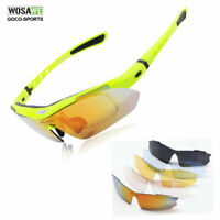 Bicycle Cycling Sunglasses Sports Bike Goggles UV400 Protection Eyewear 5 lenses