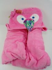 Pottery Barn Kids Lilly Pulitzer Flamingo Hooded Pink Towel #4990