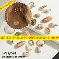 5pcs Natural Sea Shell Conch Bracelet Charms Boho Pendant Findings Jewelry Charm