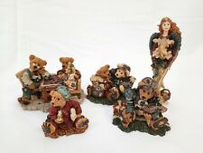 Lot (5) Boyds Bears Bearstone Collection Figurines with Boxes- Football Buddies