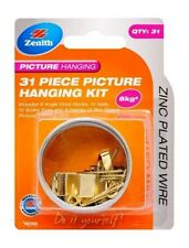 Zenith Picture Hanging Kit 31 Pieces Upto 6kg - Zinc Plated Wire