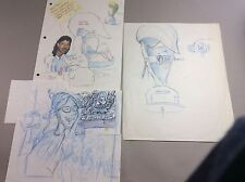 Beavies And Butt-Head Original Drawing Sketches On Memo Note Brain Sharpening
