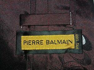 PIERRE BALMAIN Paris Haute Couture Pure Silk Pure Silk Original Brand New