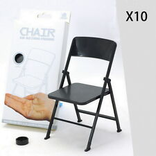 1/6 Scale Action Figure Folding Chair for Hot Toys Ultimate Soldier, Pack of 10