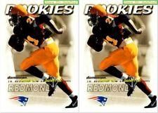 2x FLEER SKYBOX DOMINION 2000 J.R. REDMOND NFL RC PATRIOTS ROOKIE #207 LOT