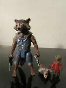Rocket Raccoon & Groot Marvel Legends GOTG Vol. 2 Wave 2 Figure Mantis BAF LOOSE