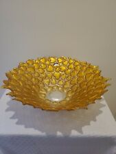 MURANO ITALIAN HEART GOLD AND SILVER BOWL