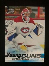 2019-20 Upper Deck Young Guns Cayden Primeau #454 Montreal Canadiens