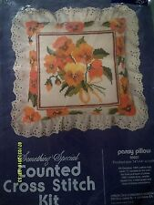 """Something Special """"Pansy Pillow"""" Cross Stitch Kit Size 14"""" x 14"""""""