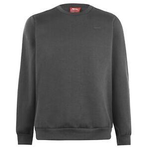 Slazenger Mens SL Fleece Crew Sweater Jumper Pullover Long Sleeve Neck