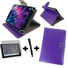 10.1 zoll Tablet Tasche + Folie + Stift - Fujitsu Stylistic Q584 - 3in1 Lila 10