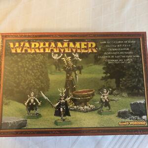 Warhammer Fantasy Dark Elf Cauldron of Blood / Dunkelelfen Blutkessel Metall OVP