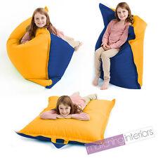 Yellow & Blue Bean Bag Slab Large Children's Kids Beanbag Cushion