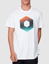 Billabong Mens Surf T-shirt Tee Size Large L X-cess White Crew Neck
