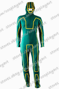 Kick-Ass Cosplay Dave Lizewski Costume Fast Shipping Green Outfit Jumpsuit