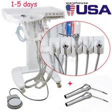 US Dental lab 4-HOLE Delivery Mobile Cart Unit Equipment F/ compressor + syringe