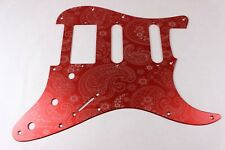 Red Anodized Paisley  Aluminum HSS Strat Pickguard- Fits Fender Stratocaster