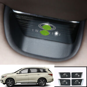 For infiniti QX60 JX35 2013-2020 Black titanium inner door storage box trim 4pcs