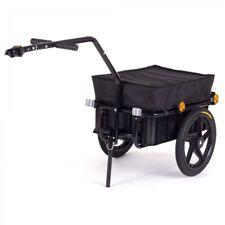 Fahrradanhänger Lastenanhänger Transportanhänger Fahrrad Handwagen Schwarz SAMAX