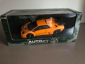 AUTOart 1:18 Lamborghini Diablo GTR - Orange VERY RARE MODEL