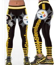 Pittsburgh Steelers XL Womens Leggings #12 Bradshaw Football Yoga Stretchy NWT
