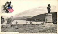 Vintage Postcard - Memorial monument Lake George New York City NY #4275