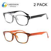 2 Pairs Retro Spring Reading Glasses +1.00 +1.25 +1.50 +1.75 +2.0 +2.5 +3.0 +4.0